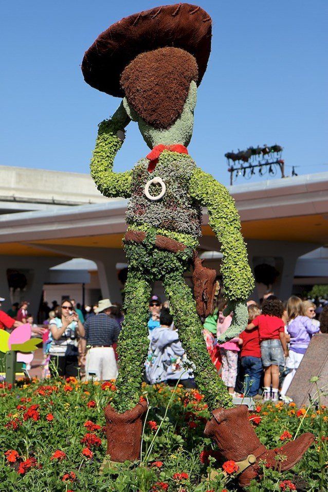 International Flower and Garden Festival - Check out the detail on Woody, even the pull-string is there around the back