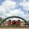 Epcot International Flower and Garden Festival - Looking back towards Future World through the arch