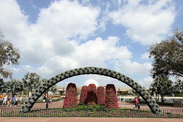 International Flower and Garden Festival - Looking back towards Future World through the arch