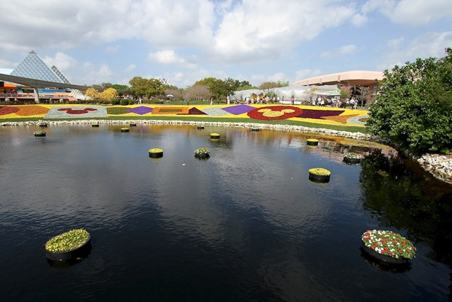 Epcot International Flower and Garden Festival - The Imagination Pavilion and the new butterfly garden