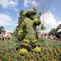 Epcot International Flower and Garden Festival - Tigger topiary in the planter area along the bridge to World Showcase from Future World