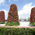 Epcot International Flower and Garden Festival - Flower Towers this year are located on the Fountain stage