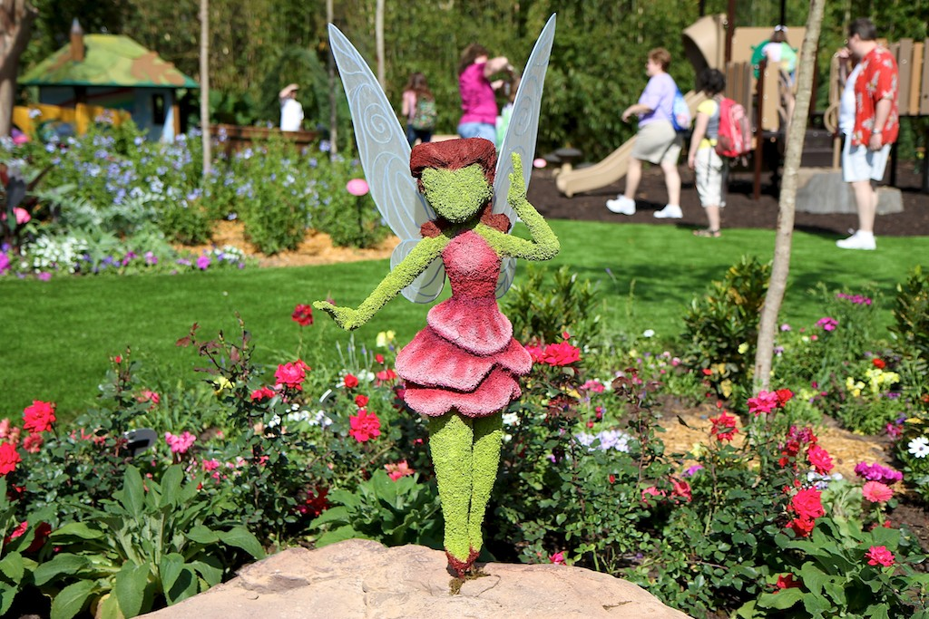 Epcot international flower and garden festival rosetta fairy topiary