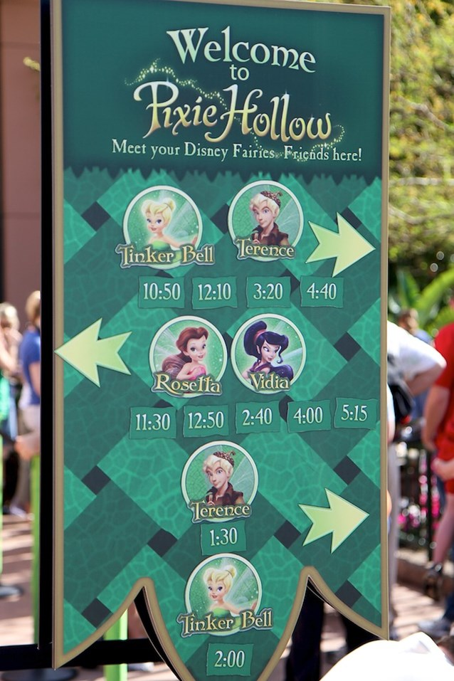 Epcot International Flower and Garden Festival - The schedule for meeting your favorite fairies