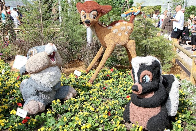 Epcot International Flower and Garden Festival - Bambi topiaries inside