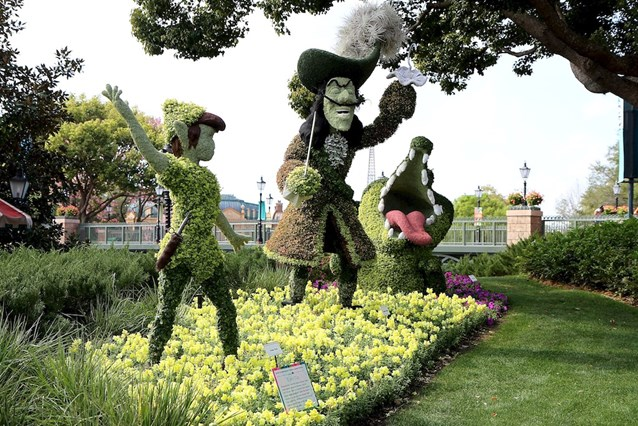 Epcot International Flower and Garden Festival - Peter Pan topiaries