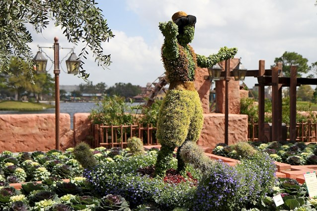 Epcot International Flower and Garden Festival - Aladdin topiary at the Morroco pavilion