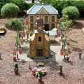 International Flower and Garden Festival - Even the Germany model railway is decorated for the festival