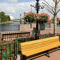 International Flower and Garden Festival - Hanging baskets line the promenade at World Showcase