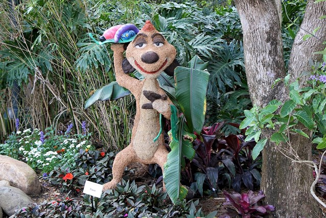 Epcot International Flower and Garden Festival - Timon topiary at the Outpost