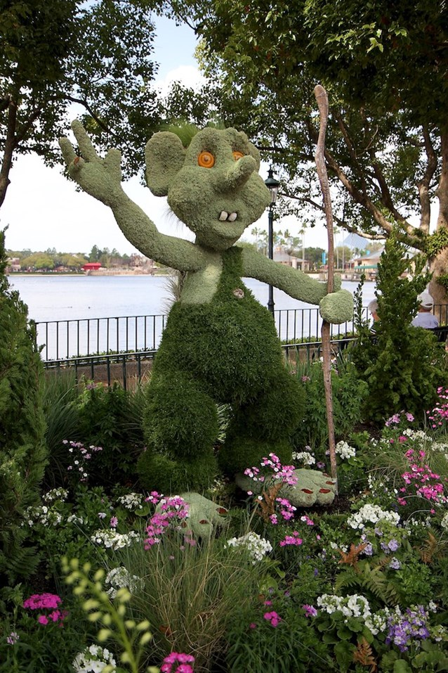 Epcot International Flower and Garden Festival - Norway is home to the Troll topiary