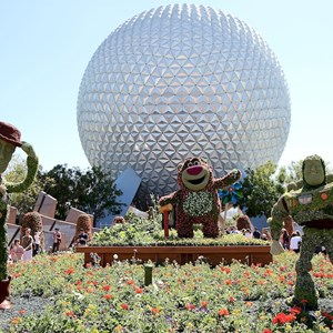1 of 8: International Flower and Garden Festival - Lotso and Lightning McQueen