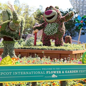 2 of 8: Epcot International Flower and Garden Festival - Lotso and Lightning McQueen