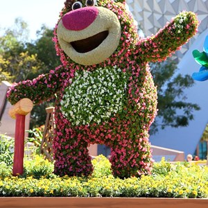 3 of 8: Epcot International Flower and Garden Festival - Lotso and Lightning McQueen