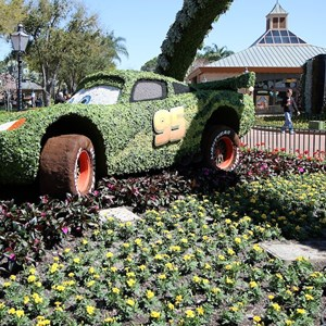 6 of 8: International Flower and Garden Festival - Lotso and Lightning McQueen
