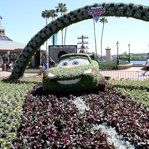 7 of 8: International Flower and Garden Festival - Lotso and Lightning McQueen