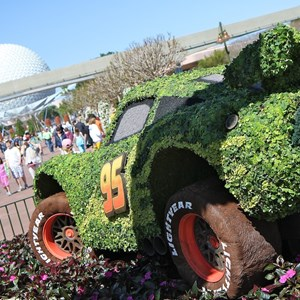 8 of 8: Epcot International Flower and Garden Festival - Lotso and Lightning McQueen