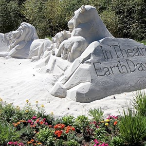 4 of 4: International Flower and Garden Festival - Completed Disney Nature sand sculpture