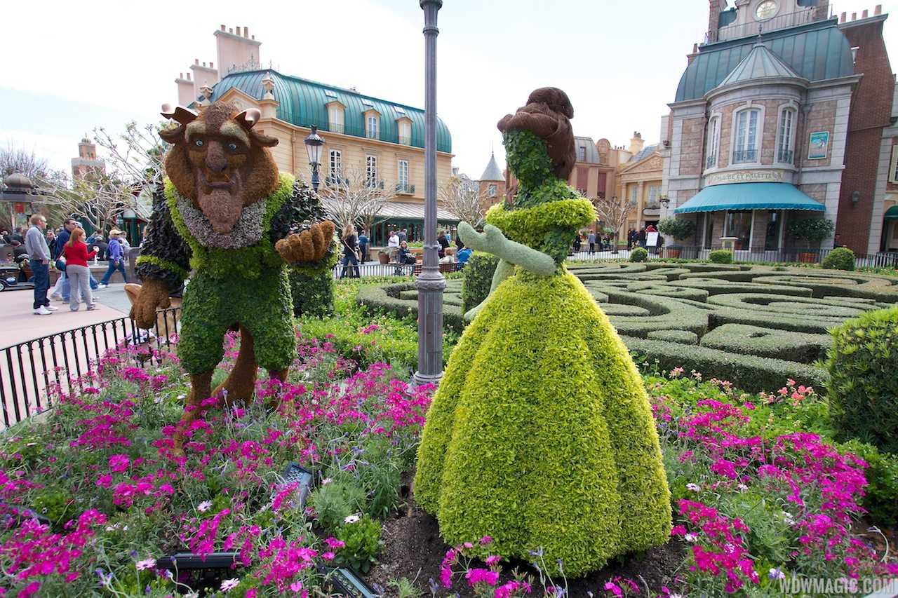 2013 international flower and garden festival preparations - Epcot flower and garden concerts ...