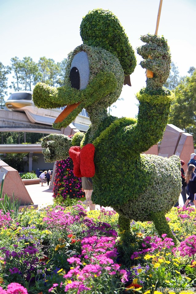 International Flower and Garden Festival - 2013 Epcot Flower and Garden Festival - Donald topiary
