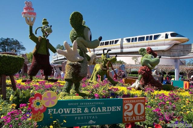 Epcot International Flower and Garden Festival - 2013 Epcot Flower and Garden Festival - Main entrance display