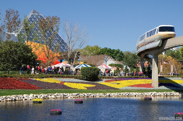 International Flower and Garden Festival - 2013 Epcot Flower and Garden Festival - Floating gardens and monorail gold