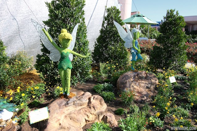 International Flower and Garden Festival - 2013 Epcot Flower and Garden Festival - Tinker Bell's Butterfly House entrance topiary
