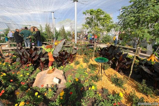 Epcot International Flower and Garden Festival - 2013 Epcot Flower and Garden Festival - Inside Tinker Bell's Butterfly House