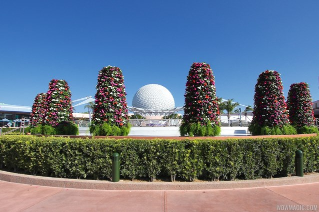 Epcot International Flower and Garden Festival - 2013 Epcot Flower and Garden Festival - Spaceship Earth stage