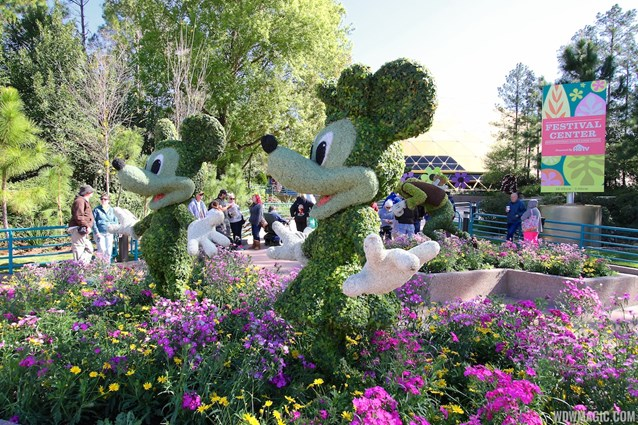 International Flower and Garden Festival - 2013 Epcot Flower and Garden Festival - Mickey and Minnie topiary at the Festival Center