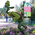 Epcot International Flower and Garden Festival - 2013 Epcot Flower and Garden Festival - Goofy topiary at the Festival Center