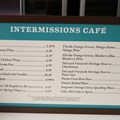 Epcot International Flower and Garden Festival - 2013 Epcot Flower and Garden Festival - Inside the Festival Center, the Intermissions Cafe menu