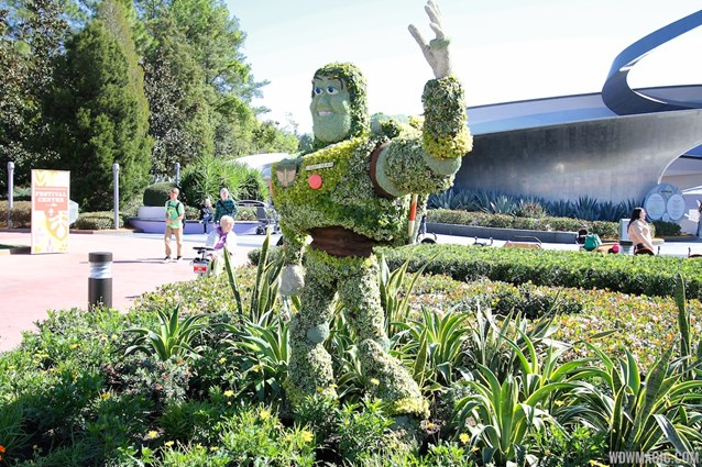 Epcot International Flower and Garden Festival - 2013 Epcot Flower and Garden Festival - Buzz Lightyear topiary