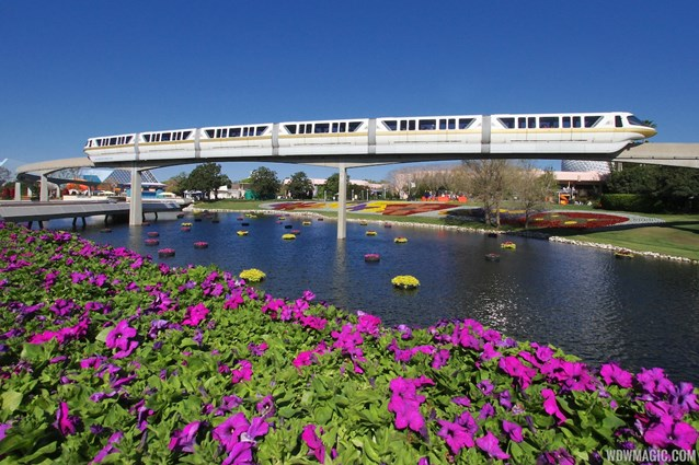 Epcot International Flower and Garden Festival - 2013 Epcot Flower and Garden Festival - Floating Gardens and monorail