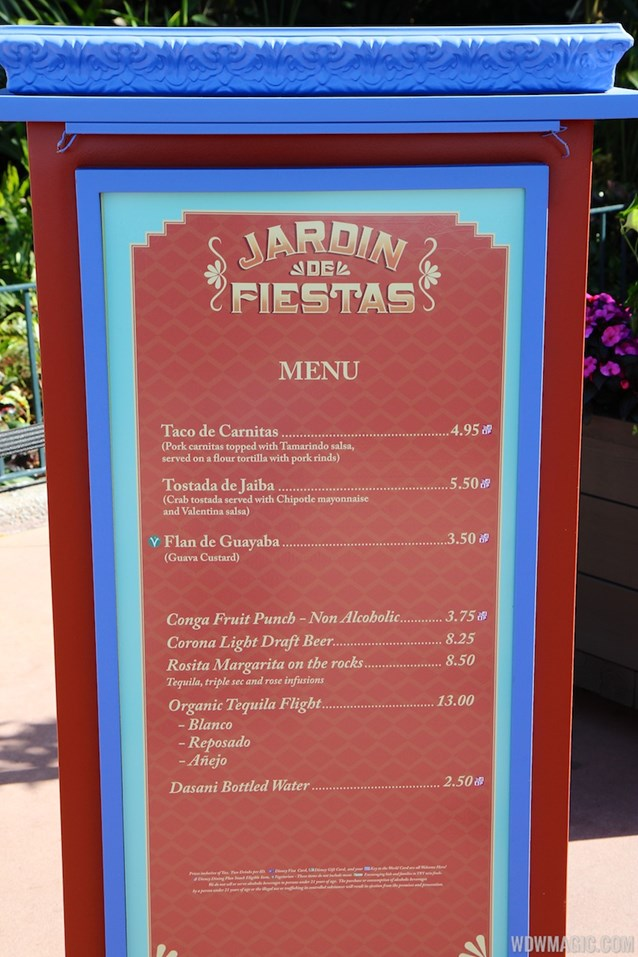 International Flower and Garden Festival - 2013 Epcot Flower and Garden Festival - Garden Marketplace - Jardin de Fiestas menu