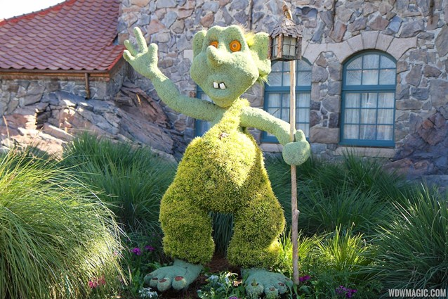 Epcot International Flower and Garden Festival - 2013 Epcot Flower and Garden Festival - Troll topiary at Norway