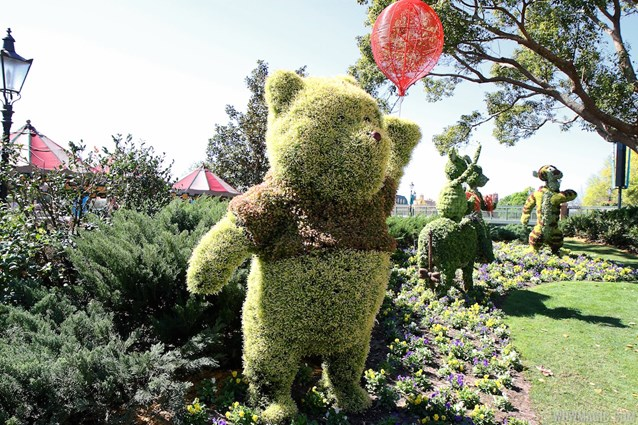 Epcot International Flower and Garden Festival - 2013 Epcot Flower and Garden Festival - UK Pavilion Winnie the Pooh topiary