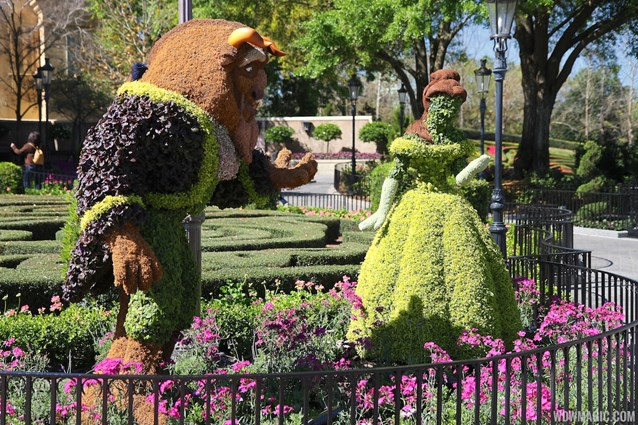 Epcot International Flower and Garden Festival - 2013 Epcot Flower and Garden Festival - Beauty and the Beast topiary