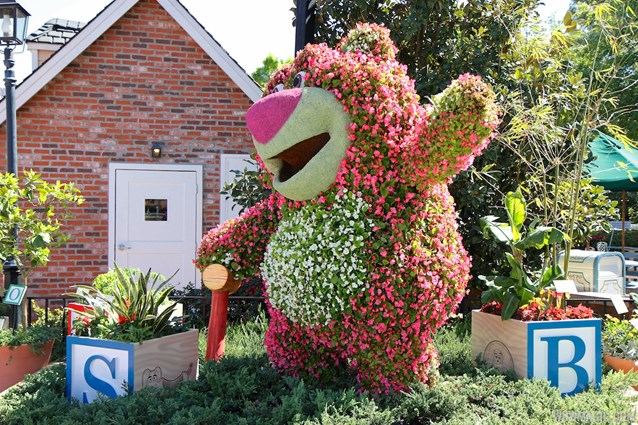 Epcot International Flower and Garden Festival - 2013 Epcot Flower and Garden Festival - Toy Story Lotso topiary