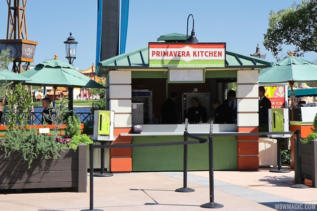 Epcot International Flower and Garden Festival - 2013 Epcot Flower and Garden Festival - Garden Marketplace - Primavera Kitchen kiosk