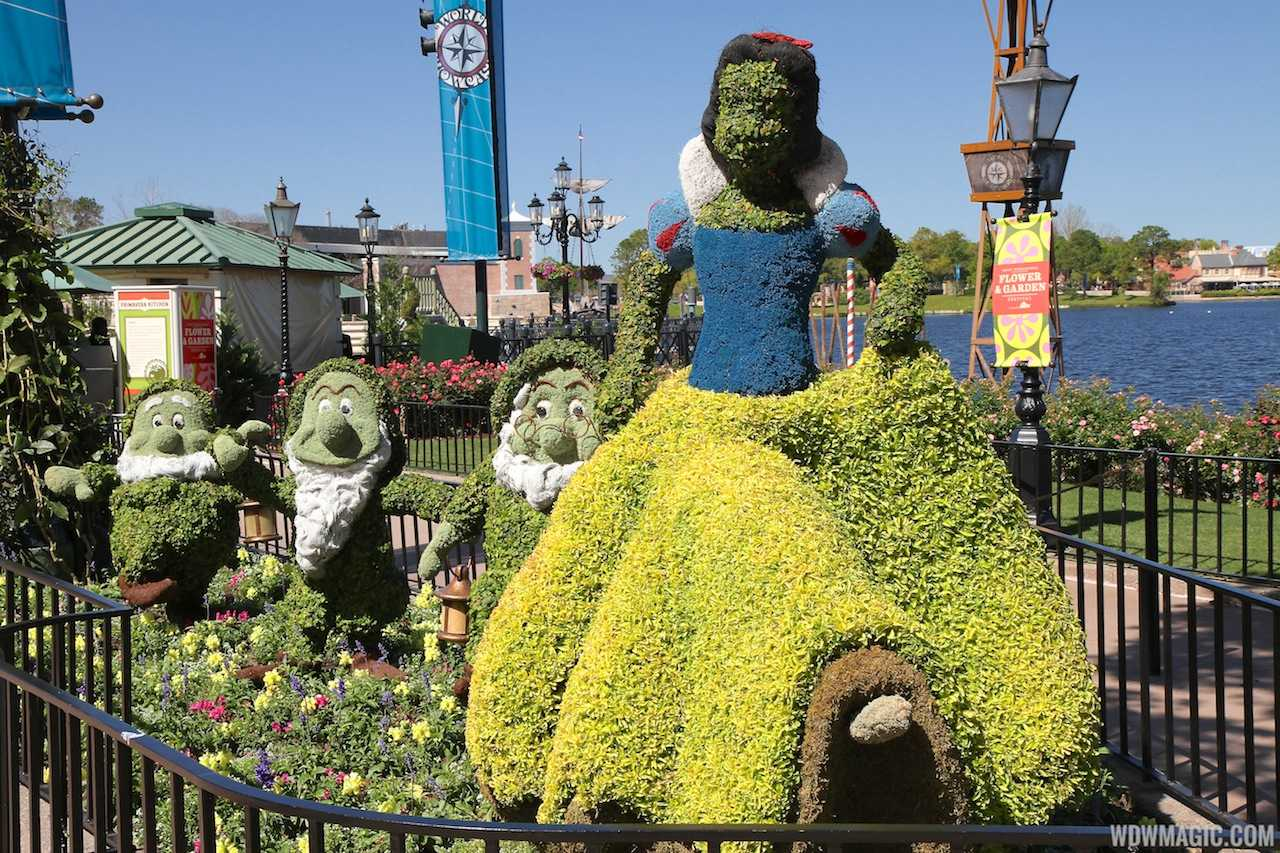 The old Snow White topiary from 2013
