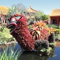 Epcot International Flower and Garden Festival - 2013 Epcot Flower and Garden Festival - China Pavilion dragon topiary