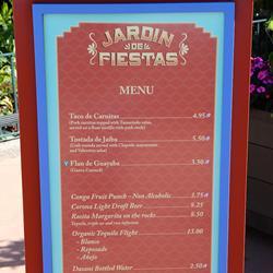 2013 Epcot Flower and Garden Festival Garden Marketplace kiosks menus
