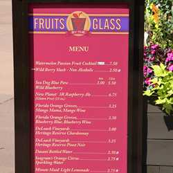 2013 Epcot Flower and Garden Festival Garden Marketplace kiosks menus