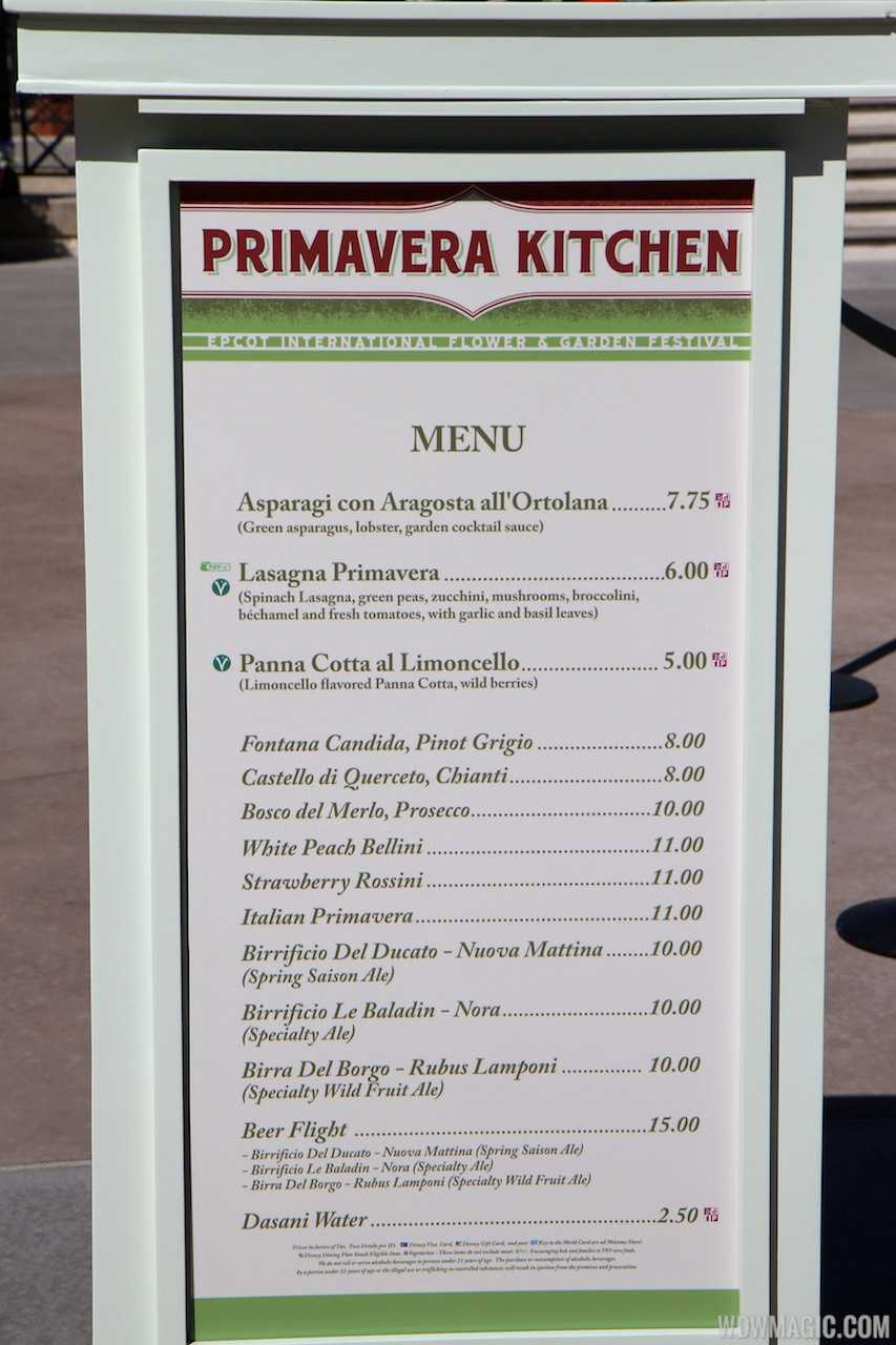 2013 epcot flower and garden festival garden marketplace for Magic kitchen menu