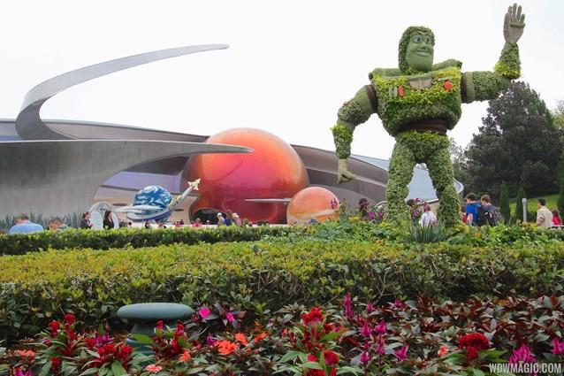 Epcot International Flower and Garden Festival - 2014 Epcot Flower and Garden Festival - Buzz Lightyear topiary