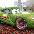 Epcot International Flower and Garden Festival - 2014 Epcot Flower and Garden Festival - Lightning McQueen topiary