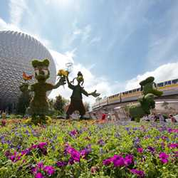 2014 Epcot International Flower and Garden Festival opening day tour