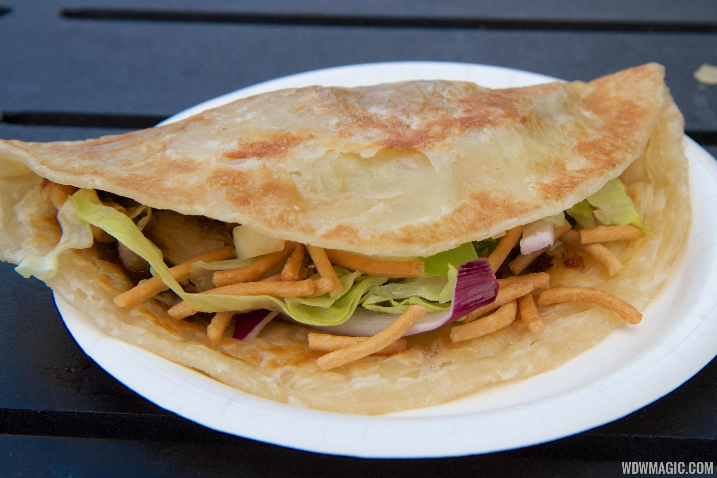 2014 Epcot Flower and Garden Festival Outdoor Kitchen kiosk - Lotus House China - Spring Pancake $5.25