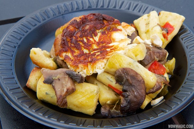 2014 Epcot Flower and Garden Festival Outdoor Kitchen kiosk - Fleur de Lys France - Ghnocchis Parisienne a la Provencal $4.75